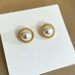 Kate Spade Simple Polished Pearl Earrings